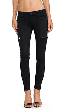 Hudson Jeans Mystic Skinny Crop in Black Knight