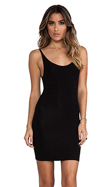 Indah Daisy Scoop Back Tank Dress in Black