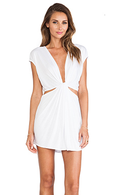 Indah Rae Cutout Mini Dress en Blanc