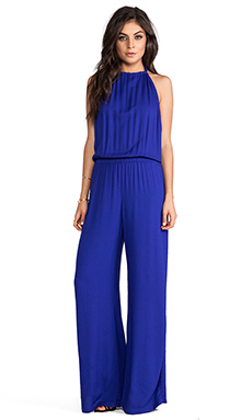 Indah Tang Open Back Jumpsuit in Violet