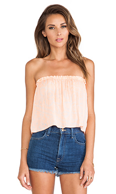 Indah X REVOLVE Star Strapless Tube Top in India Neon Coral