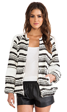 IRO Axel Jacket in Black & Off White
