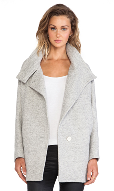 IRO Chloane Coat in Stone Grey