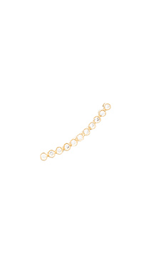 Jacquie Aiche 11 CZ Bezel Ear Cuff in Vermeil Yellow Gold