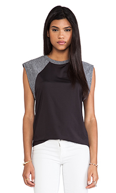 JAGGAR Stormy Tank in Black & Grey Marle