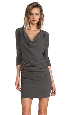 James Perse Dolman Cowl Dress in Jungle Melange