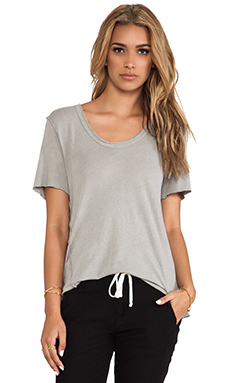 James Perse Inside Out Linen Jersey Tee in Shadow