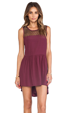 JARLO Jill Loose Tank Dress in Burgundy