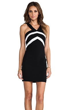 Jay Godfrey Decca Dress in Black & White