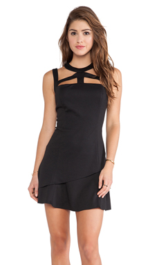 Jay Godfrey Rowan Dress in Black