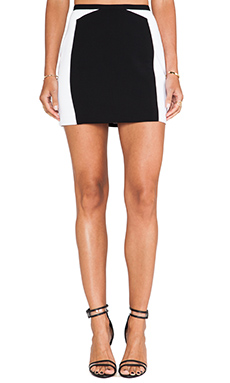 Jay Godfrey Bel Air Skirt in Black/White