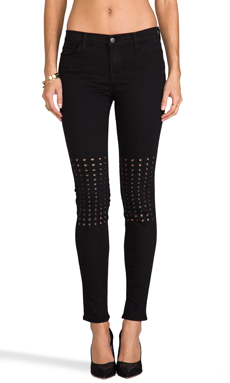 J Brand Ingrid Grommet Knee Skinny in Rich