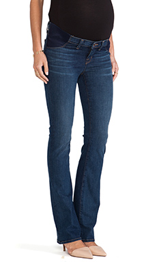 J Brand Maternity True Blue Medium Wash Skinny in Waltz