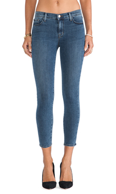 J Brand Midrise Capri in Beloved