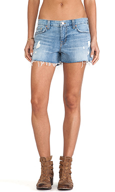 J Brand Low Rise Cutoff in Over Blue