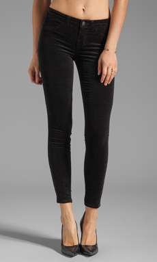 J Brand Velvet Skinny in Black