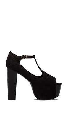 Jeffrey Campbell Foxy Platform in Black Suede