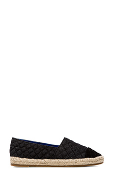 Jeffrey Campbell Atha Q Loafer in Black Suede & Black Denim