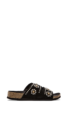 Jeffrey Campbell Lisbon Embellished Sandal in Black
