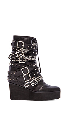 Jeffrey Campbell Lucius Embellished Boot in Black & Silver