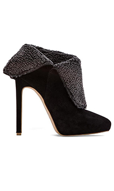 Jeffrey Campbell Berigan Heeled Bootie in Black Suede