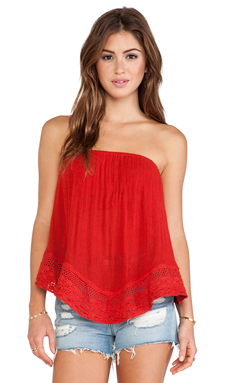 Jen's Pirate Booty Balinese Bandeau Top in Red