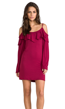 James & Joy Dayna Dress in Burgundy