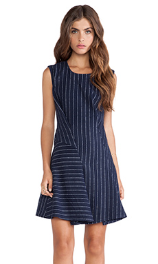 JOA Structured Dress in Navy