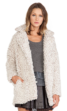 JOA Blazer Boucle Coat in Dust Rose