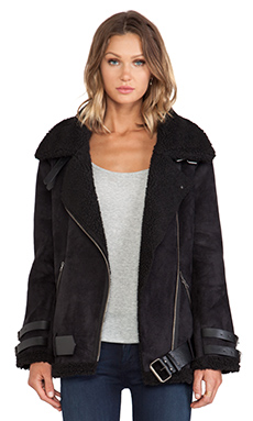 JOA Mustang Biker Jacket in Black
