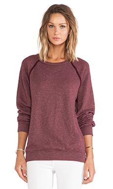Joe's Jeans Maebe Sweatshirt in Heather Red Sea