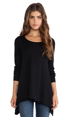 Joie Letitia B Asymmetric Hem Sweater in Caviar