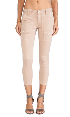 Joie So Real Cropped Twill Pants in Croissant