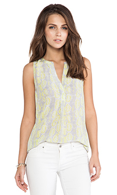 Joie Aruna Pythion Printed Tank in Citrine