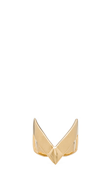 joolz by Martha Calvo V Midi Ring in Gold