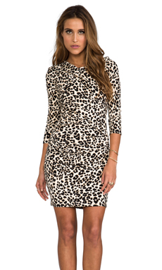 Juicy Couture King Cheetah Dress in Soft Caramel