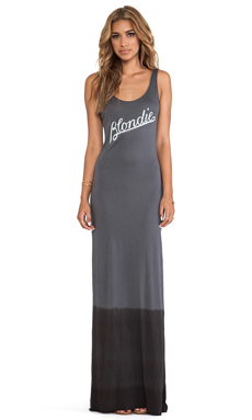 Junk Food Maverick Maxi Dress in Charcoal & Pepper