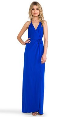 Karina Grimaldi Matte Jersey Seville Maxi Dress in Blue