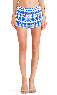 Karina Grimaldi Manola Beaded Shorts in Regatta