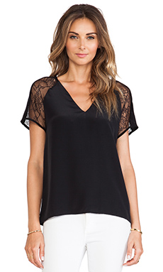 Karina Grimaldi Safi Top in Black