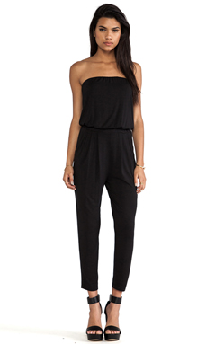krisa Tube Jumpsuit in Black