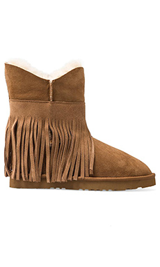 Koolaburra Haley Ankle II with Twinface Sheepskin in Chestnut