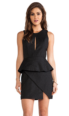 keepsake In Your Light Tank Dress with Peplum in Black Jacquard