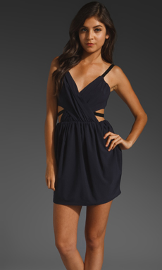 keepsake Secret Dancer Dress in Navy/Black