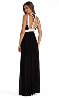 keepsake Eyes Wide Open Maxi Dress in Black/Ivory