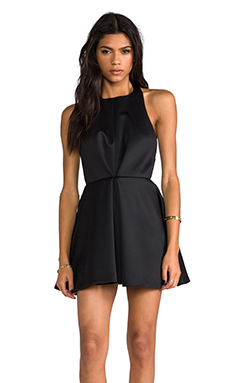keepsake Chained Mini Dress in Black