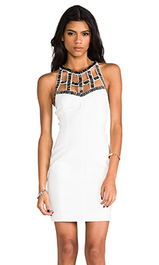 keepsake Night Drive Mini Dress in Ivory