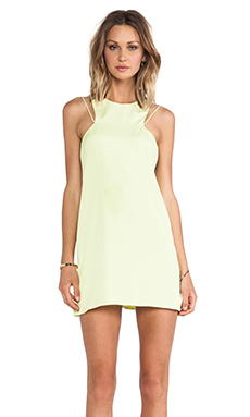 keepsake Countdown Tank Dress in Lime