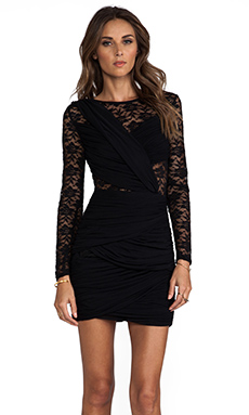 keepsake Just a Memory Long Sleeve Dress in Black