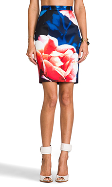 keepsake Already Home Skirt in Navy Rose Print